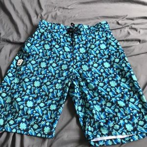 Pink Dolphin Blue Surf Shorts